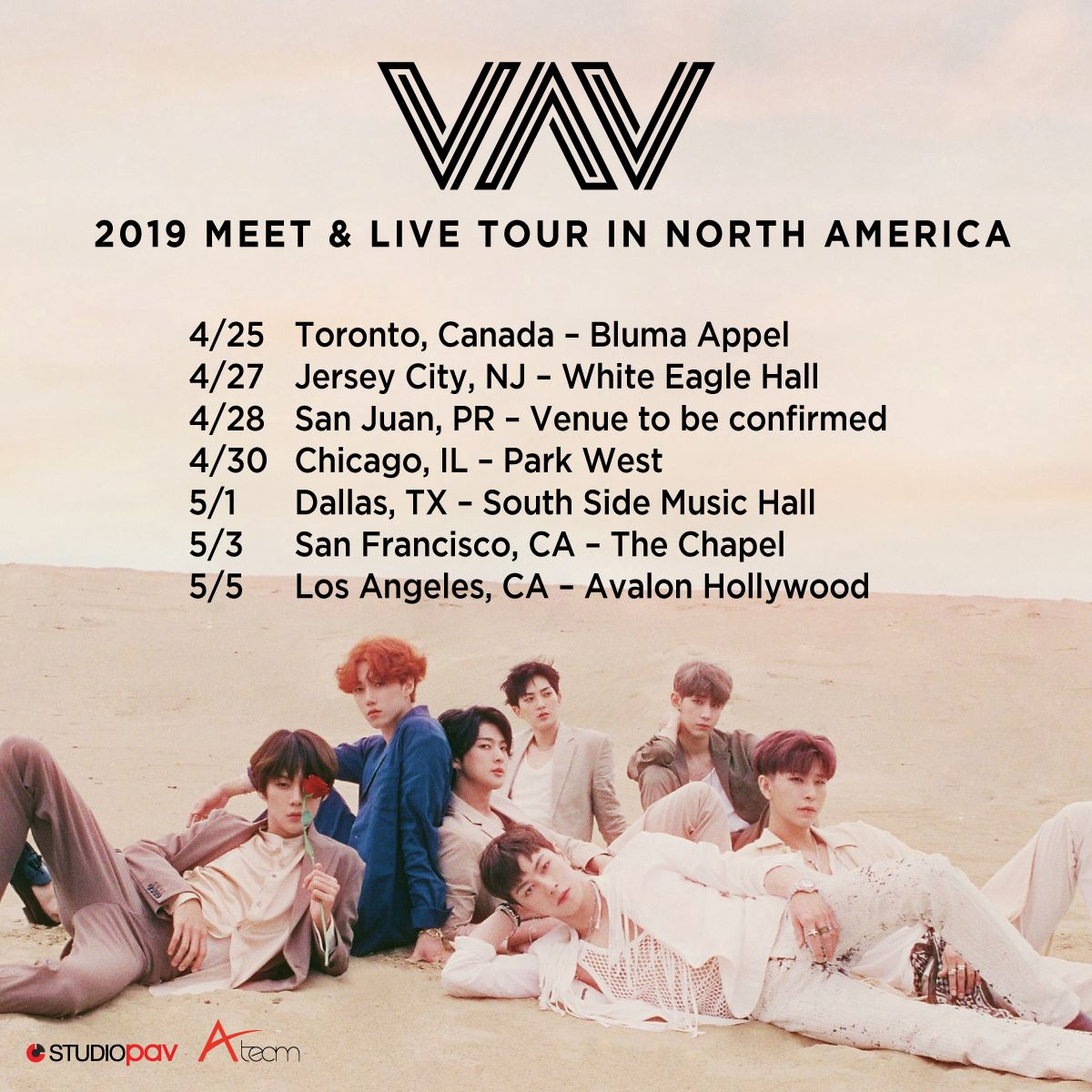 VAV, kpop-boys-band, world-concert-tour-2019