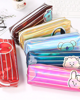 BTS KPOP BT21 Bangtan-Shooky-Mang-Koya-Van-Tata-Chimmy-RJ-Cooky Kawaii Pencil Case Cartoon-Gift Estuches School Pencil Box Pencilcase School Supplies Stationery-01