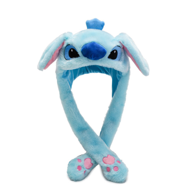 Kocozo Rabbit Hat Moving Ears Cute Cartoon Toy Hat Airbag Kawaii Funny Toy Cap Kids Plush Toy Birthday Gift  Hat for Girls
