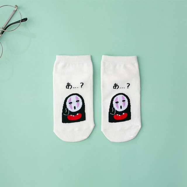 2020 Woman Socks Cartoon Anime Socks Cotton Korean Ship Socks Fun Funny Creative Series sock women Dropshipping