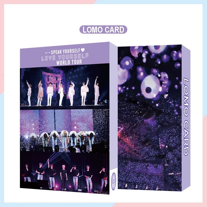54PC KPOP Boys Photocard Album SPEAK YOURSELF Self Made Paper Card Lighes/Boys With Luv Photo Cards Poster